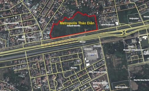Vị trí dự án Metropolis Thảo Điền